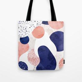 Terrazzo galaxy pink blue white Tote Bag