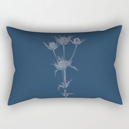 Milk Thistle Blueprint Rectangular Pillow