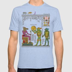 hero-glyphics: TMNT Tri-Blue LARGE Mens Fitted Tee