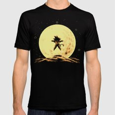 Full Moon LARGE Black Mens Fitted Tee