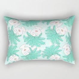 Fern-tastic Girls in Teal Rectangular Pillow