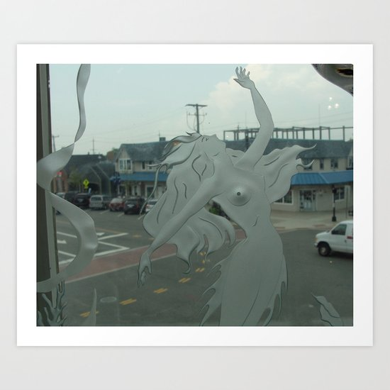 Swimming in a Suburban Sea Art Print