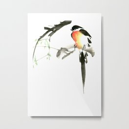 Chinese Shui-mo(水墨)- Bird Metal Print