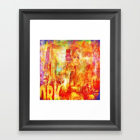 Girl in New-York  Framed Art Print