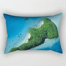 Angel Serenity Island: Palau Tropical Paradise Rectangular Pillow