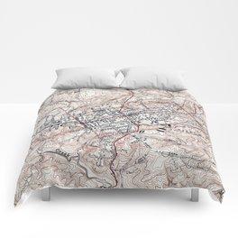 Vintage Map of Chapel Hill North Carolina (1946) Comforters