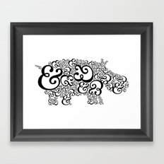 Ampersand Hippo Framed Art Print