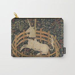 Vintage Fenced in Unicorn Painting (1505) Carry-All Pouch