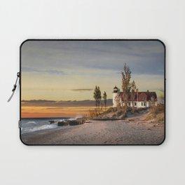 Point Betsie Lighthouse at Sunset Laptop Sleeve