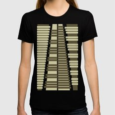 Instrumental series I - xylophone - ANALOG zine LARGE Black Womens Fitted Tee