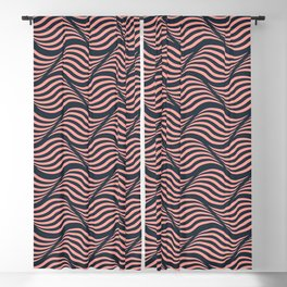 Coral waves Blackout Curtain