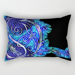 LATTICE LETTER O - night water Rectangular Pillow