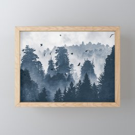 Amazing Forest Morning Nature Photography Framed Mini Art Print
