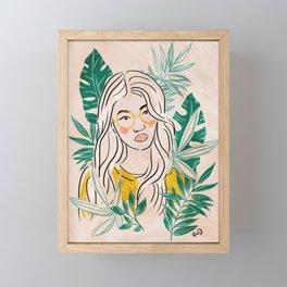 Tropical Girl Framed Mini Art Print