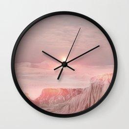 Pastel desert Wall Clock