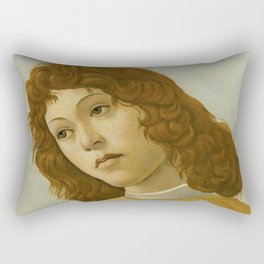 "Sandro Botticelli ""The Virgin and Child with Saint John and an Angel"" An angel Rectangular Pillow"