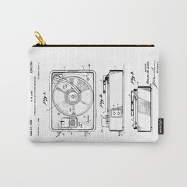 Turntable Patent Carry-All Pouch