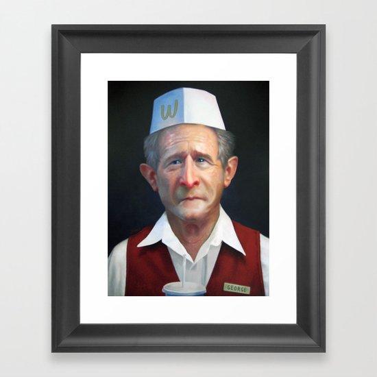 Freedom Fries Framed Art Print