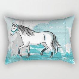 trotting horse Rectangular Pillow