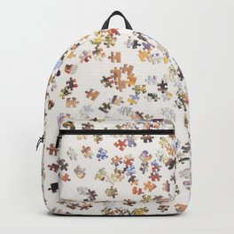 Top view of a Jigsaw puzzle Backpack