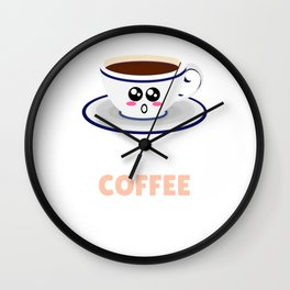 A Yawn Is A Silent Scream For Coffee Funny Coffee Pun Wall Clock