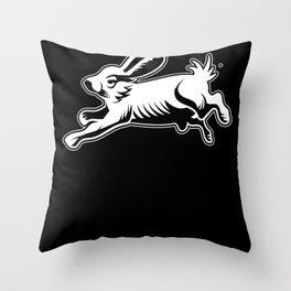 Rabbit Funny Animal Rabbits Fun Design Bunny Gift Throw Pillow