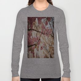 Flowers and Building Long Sleeve T-shirt