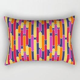 Modern Geometric Tabs in Sunset Colors Rectangular Pillow