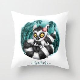Clem' Hurien Throw Pillow