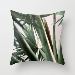 Palm trees in pink Throw Pillow