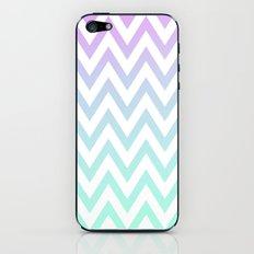Purple & Teal Chevron Fade iPhone & iPod Skin