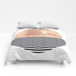 Rose Gold Sun - Scandinavian Art Comforters