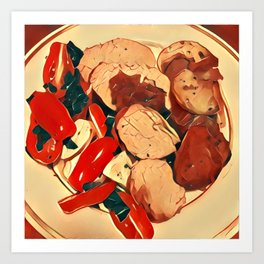 Main Course Two Art Print