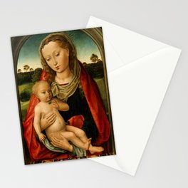 """Hans Memling """"Virgin and Child"""" (2) Stationery Cards"""