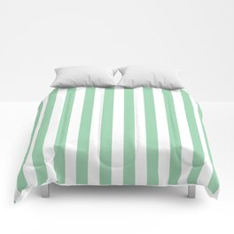 Mint Green Small Even Stripes Comforters