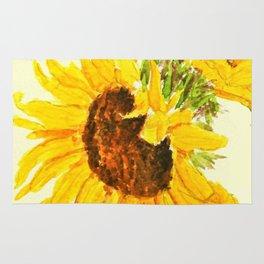 sunflower macro Rug
