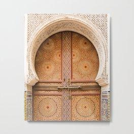Ornate - Fes, Morocco Metal Print