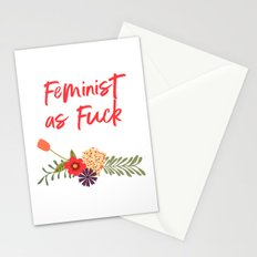 Feminist as Fuck (Uncensored Version) Stationery Cards