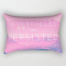 Nevertheless she persisted (pink) Rectangular Pillow