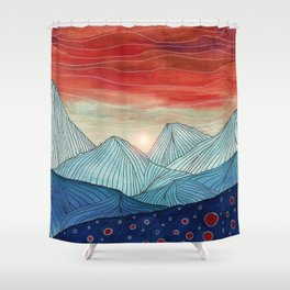 Lines in the mountains IV Shower Curtain