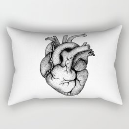 Hearts and Crafts Black Rectangular Pillow