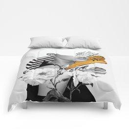 collage art (girl) Comforters
