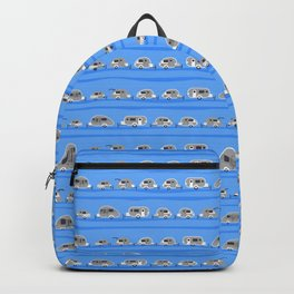 Tiny Trailer Rows in Blue Backpack