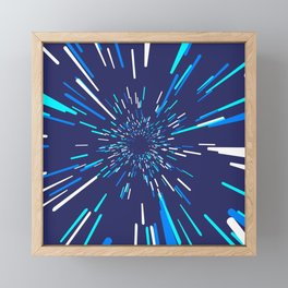 Space Trip 3 Framed Mini Art Print