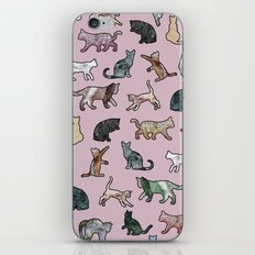 Cats shaped Marble - Rose Pink iPhone & iPod Skin