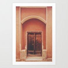 Abyaneh Door #2 (from the series 'Iranian Doors') Art Print
