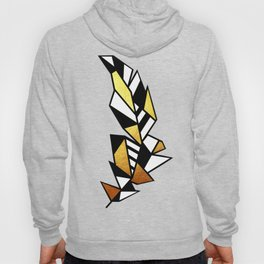 Gold Feather & Psalm 91:4 Hoody