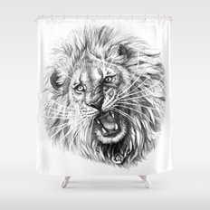 Lion roar G141 Shower Curtain