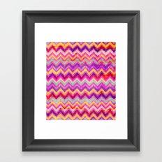 Chevron Pattern Framed Art Print