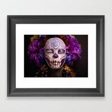 Violet Harvest Muertita Detail Framed Art Print